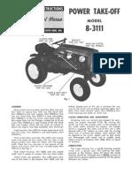 WheelHorse power take off manual 8-3111