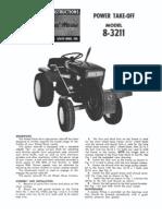 WheelHorse Power take off manual 8-3211