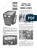 WheelHorse light panel assembly manual 8-8012