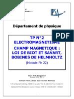 Tp 2 IPSA Loi de Biot Et Savart Helmoltz 2010-2011 (1)