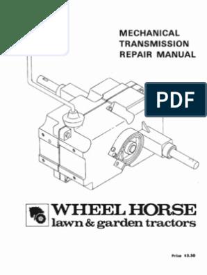 WheelHorse Manual transmissions service manual