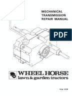 wheelhorse raider 10 and raider 12 owners manual for models 1 6051 wheelhorse manual transmissions service manual