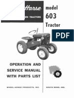 WheelHorse model 603 service manual