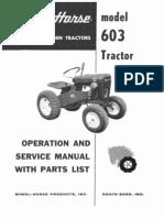 WheelHorse model 603 service manual