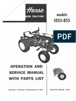 WheelHorse 855 and 1055 service manual