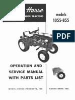 WheelHorse 855 and 1055 service manual