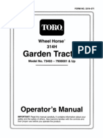 WheelHorse 314-H operators manual 73403