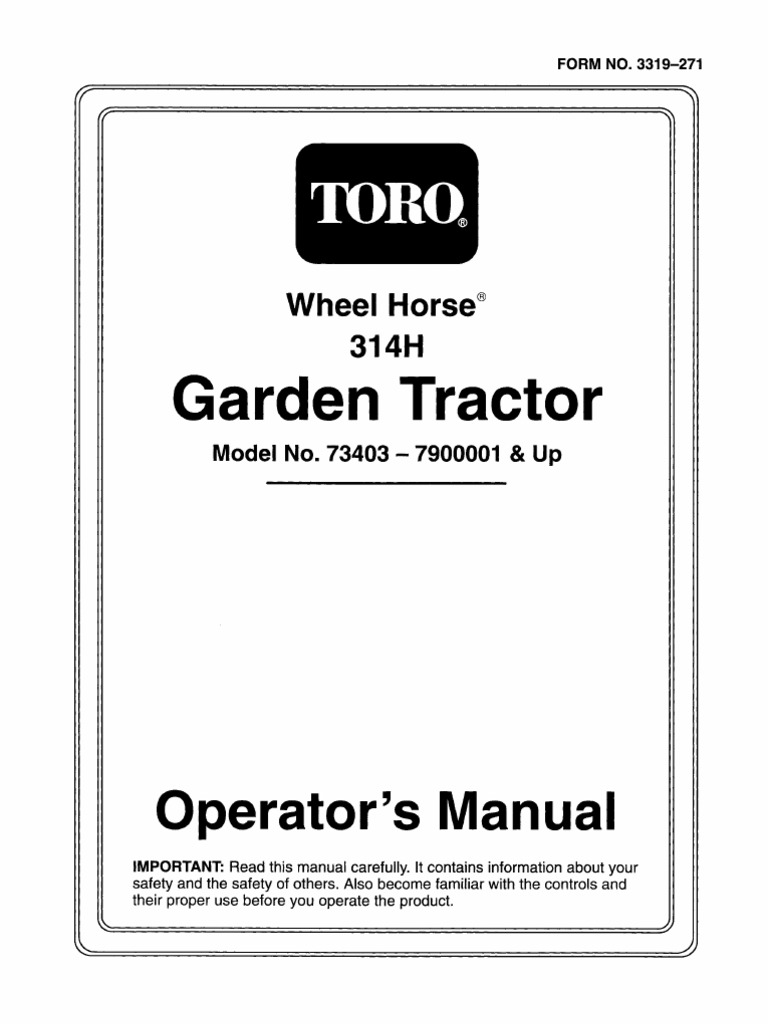 wheelhorse 314 h operators manual 73403 gasoline clutch rh scribd com