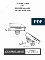 WheelHorse Garden Trailer operators manual 810238R1