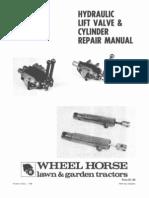 WheelHorse hydraulic lift valve and cylinder repair manual 810242R1