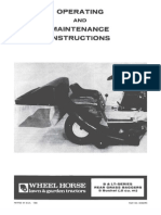 WheelHorse Bagger manual for B series and LT series tractors 810307R1
