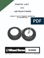 WheelHorse Heavy Duty Front Spindle and Wheel Kit 8-10504R1
