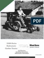 Wheelhorse 314-h operators manual 73403 | gasoline | clutch.
