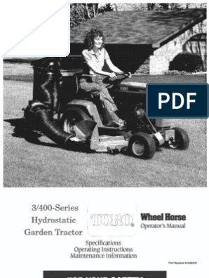WheelHorse 300 and 400 series owners manual | Tractor