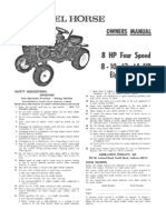 WheelHorse Raider 10 and raider 12 owners manual for models 1-6051 1