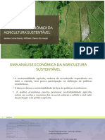 UMA ANÁLISE ECONÔMICA DA AGRICULTURA SUSTENTÁVEL