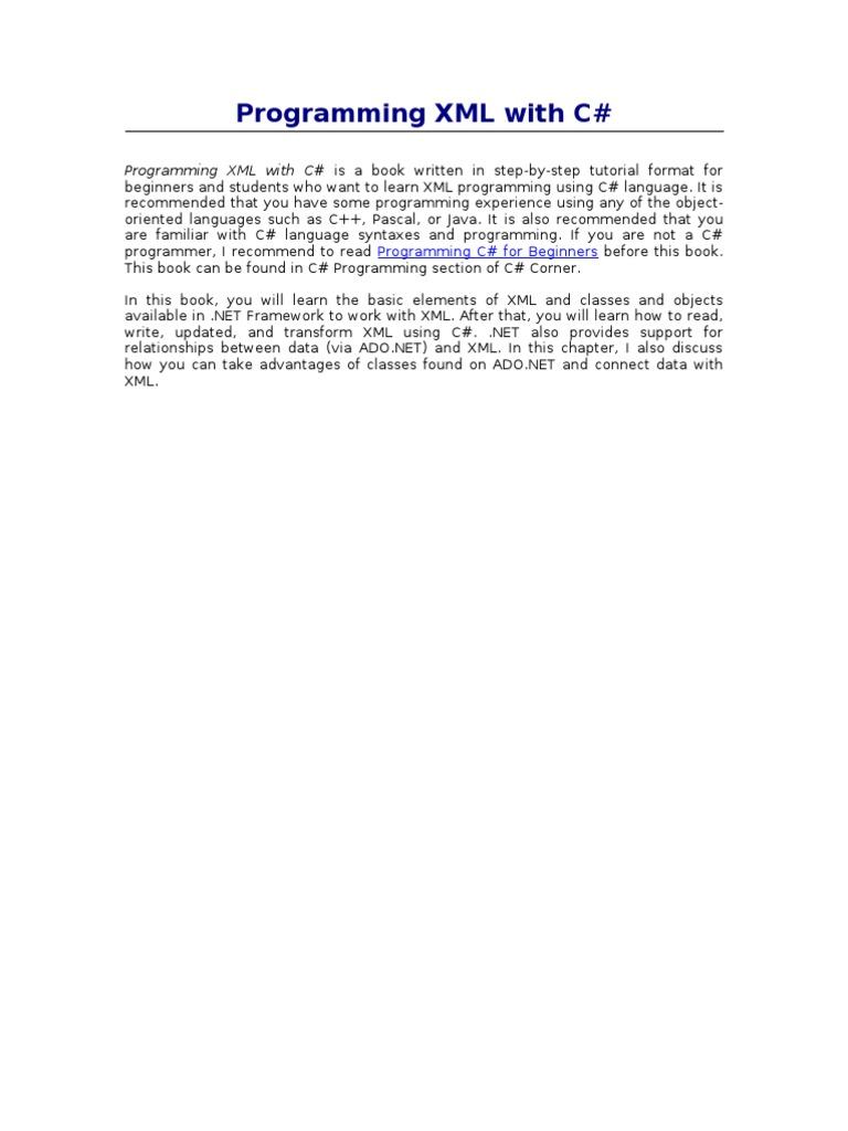ProgrammingXML | Html Element | Xml Schema