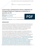 Epidemiology, clinical manifestations, and diagnosis of Cryptococcus neoformans meningoencephalitis in patients with HIV - UpToDate