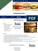 RECETARIO HAMBURGUESAS ARTESANALES PRESENCIAL 2020
