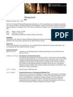 SMM '08 Finance Workshop Flyer