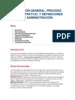 Direccion General, Proceso Administrativo, Definicion de Administracion
