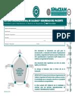 Plan de cuidado y seguridad del paciente 2015