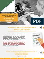 1. Registro de PPP - Modalidad PRACTICAS CON CONVENIO