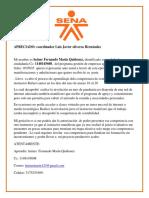 carta de peticion coordinador