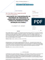 352ncia e Tecnologia de Alimentos - Determination of the pectinase concentration in hydrolysis - saccharification process for e)