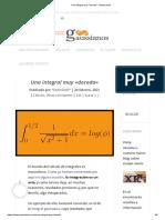 Una integral muy _dorada_ - Gaussianos