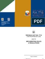 BOT - RA 7718