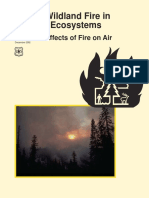 wildland fire in ecosystems - effects of fire on air