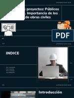 Gestión de proyectos Públicos y privados. Importancia de los proyectos de obras civiles