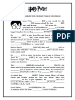 Simple Past Tense Harry Potter Worksheet Templates Layouts 102364