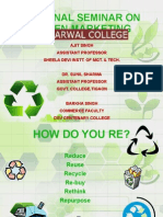 GREEN MARKETING (NATIONAL SEMINAR AT AGGARWAL COLLEGE)