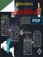 Infografía Valores éticos de Simón Bolívar. Ángel González,Cátedra II ,6s.