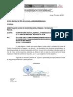 """OFICIO MULT. 050 REMITIR INFORME MENSUAL DE TRABAJO PEDAGÓGICO DOCENTE EN EL MARCO DE ESTRATEGIA NACIONAL """"APRENDO EN CASA"""