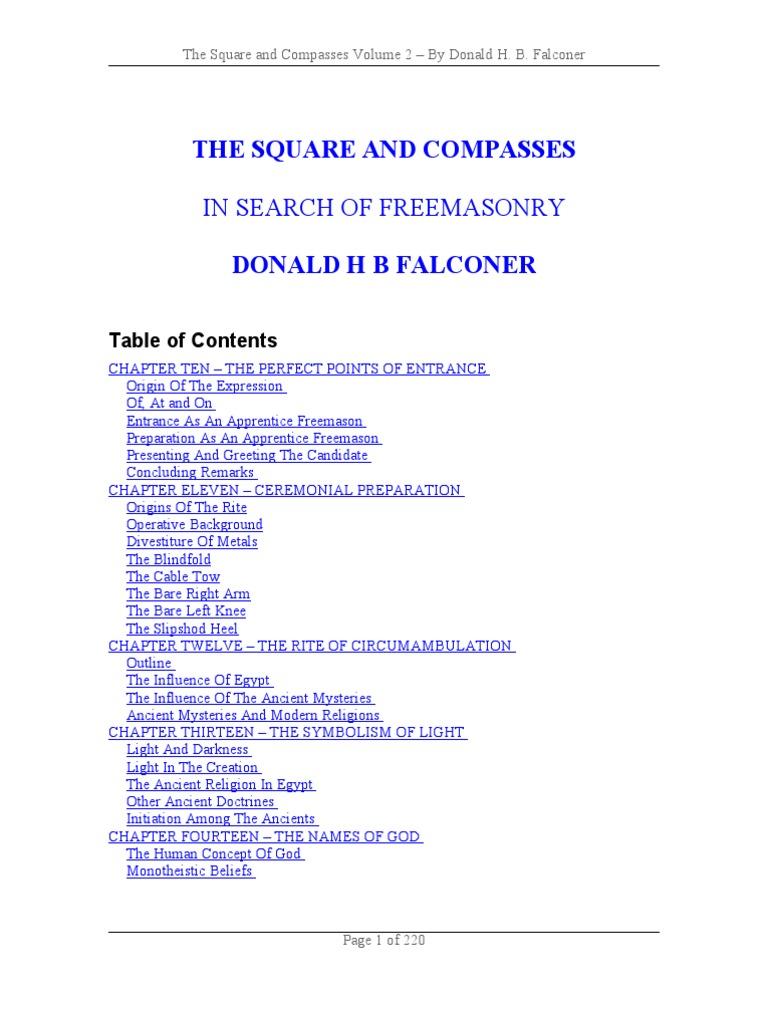 falconer don the square and compasses volume 2 pdf