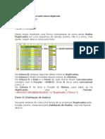 Excel - ENCONTRA VALOR DUPLICADO