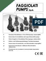 Manual Instrucciones de instalación y uso Electrobombas sumergibles
