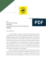 Carta Denuncia a Anfp 07 de Mayo Del 2021