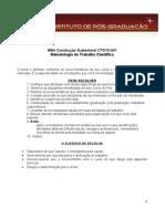 8 - Metodologia do Trabalho Científico e Orientação de TCC - Dicas Na Escolha de Temas