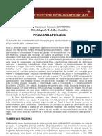 8 - Metodologia do Trabalho Científico e Orientação de TCC - Pesquisa aplicada