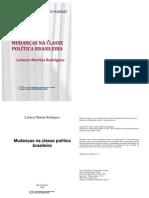 RODRIGUES Leoncio M. Mudancas na classe politica brasileira. São Paulo