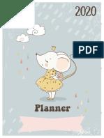planner Cute Mouse Ideia Criativa