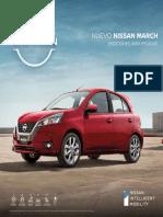 Brochure Nuevo Nissan March Colombia