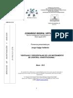 VENTAJAS Y DESVENTAJAS DE LOS INSTRUMENTOS DE CONTROL CONSTITUCIONAL