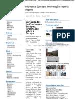 Curiosidades do Continente Europeu, Informação sobre a Europa  Viagens e Destinos