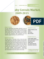 Global Baby Cereals Market, 2009-2015