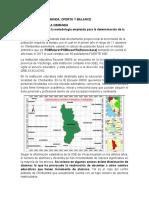 Analisis de La Demanda, Oferta y Balance Final